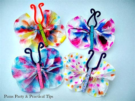 butterfly crafts for to make butterfly crafts with coffee filters other butterfly
