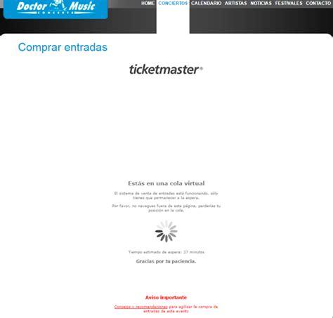 paginas de venta de entradas colapsan las webs de venta de entradas de los the rolling