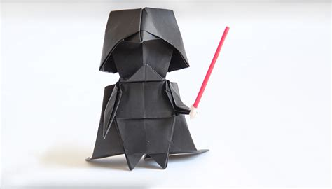 origami darth vader make your own origami darth vader technabob