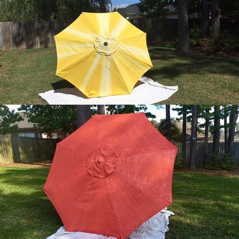 spray paint umbrella rustoleum spray paint coral patio umbrella diy updated