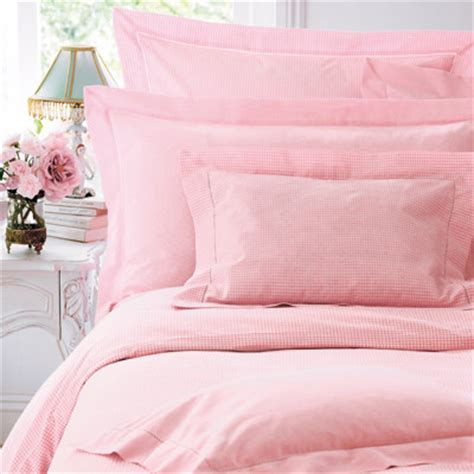 pink bed sheets pink gingham bed linen cologne cotton traditional