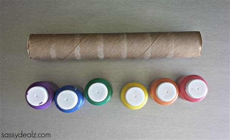 crafts made from paper towel rolls rainbow paper towel wind catcher craft for crafty