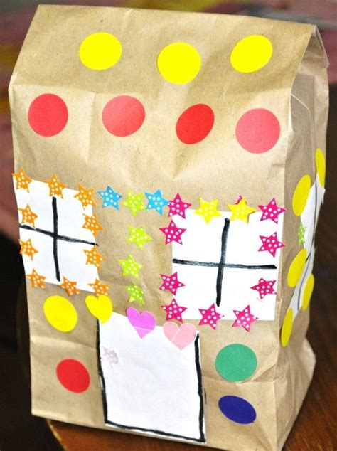 gingerbread house paper craft paper bag gingerbread house craft theme