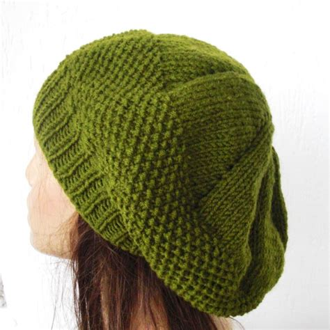 patterns for knitted hats knit beret hat pattern a knitting