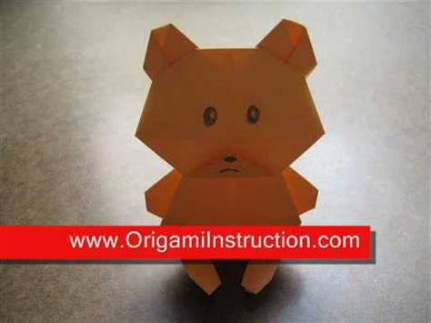 origami teddy how to make an origami teddy