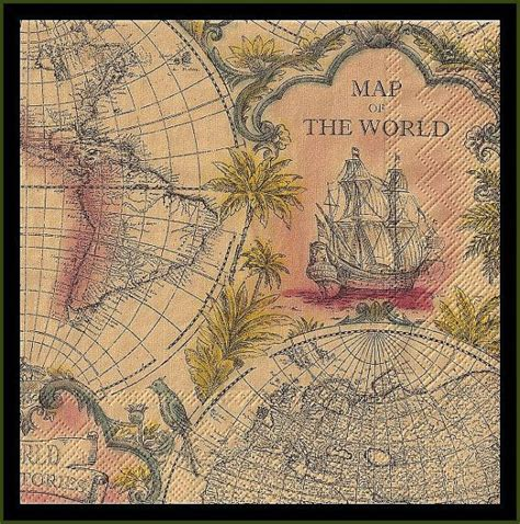 map decoupage 10 map of the world paper decoupage napkins use for