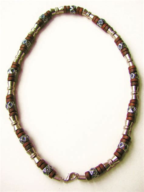 mens beaded necklaces salem beaded necklace s surfer style jewelry brown