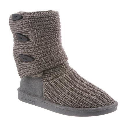 bearpaw gray knit boots womens knit by bearpaw in color 055 gray