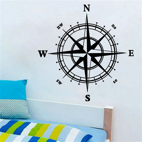 nautical wall stickers nautical compass removable vinyl decal wall sticker mural
