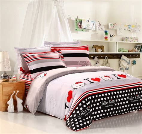 low price hello bedding comforter sets with black