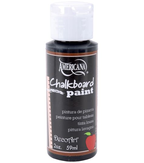 chalk paint joann deco chalkboard paint 2oz black slate jo