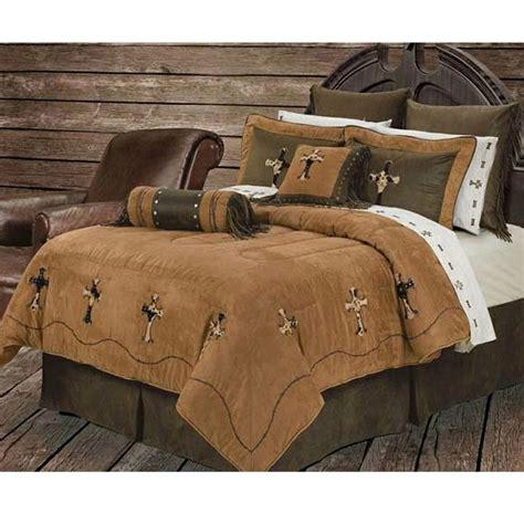 western bedding sets cowhide cross western bedding comforter set