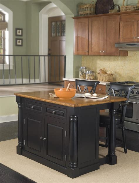 island stools kitchen home styles monarch kitchen island and two stools by oj commerce 5008 948 1 769 99