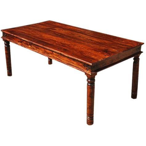 solid wood dining table grogan rustic solid wood rectangular dining table