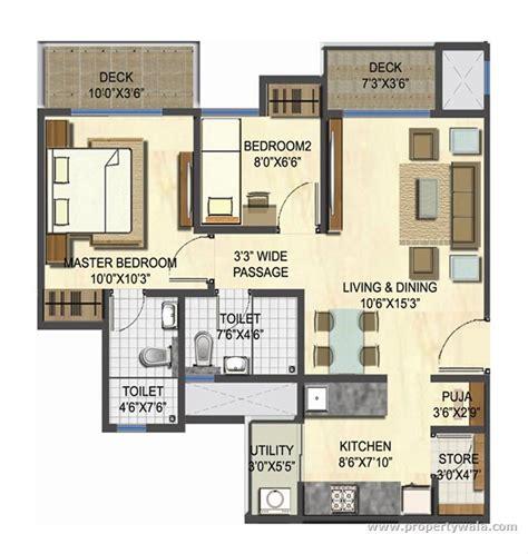 unit plans lodha casa gold dombivli thane residential