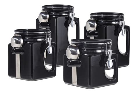 black canisters for kitchen create the unique place with kitchen canisters sets