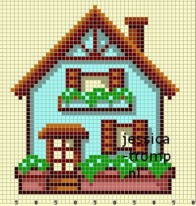 hama house design 40 cool perler bead patterns hative