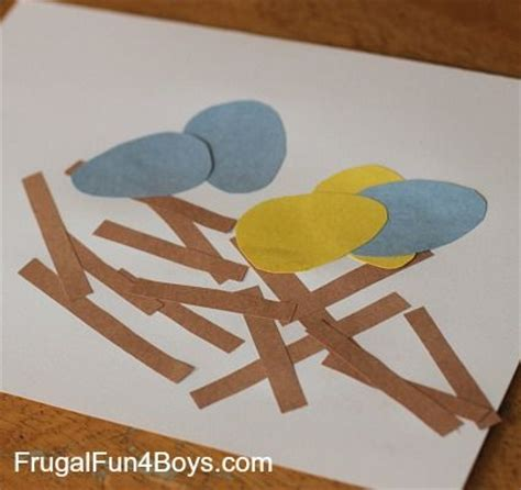 toddler crafts with construction paper toddler craft construction paper bird s nest