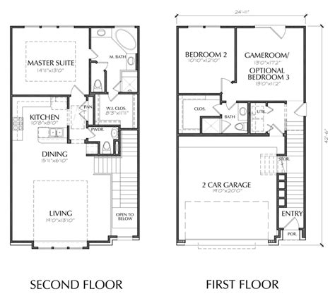 2 story floor plans with garage townhouse plans with garage homes floor plans