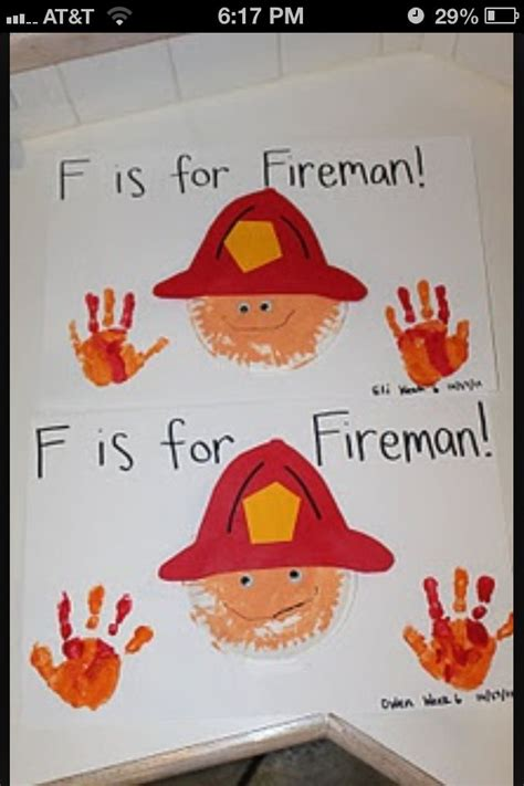 firefighter crafts for fireman craft safety