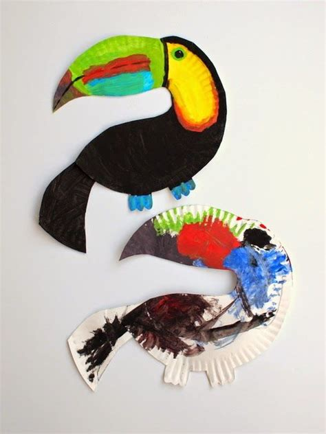bird paper plate craft best 25 toucan craft ideas on rainforest