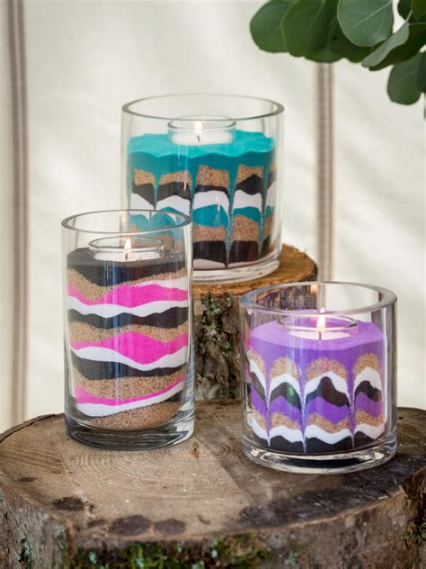 sand craft projects easy diy sand candles hgtv
