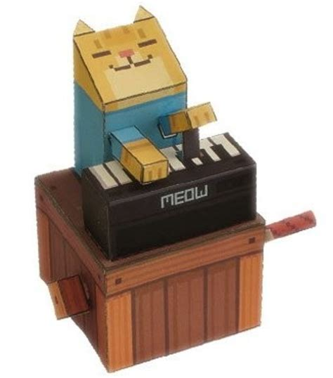 cat paper craft papercraft keyboard cat meow