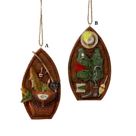 fishing ornaments resin fishing boat ornament and city