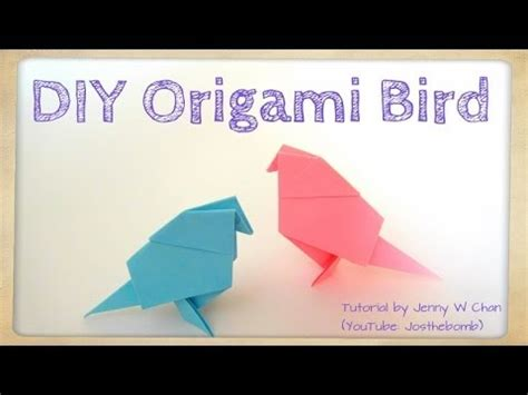 origami for 8 year olds diy origami bird tutorial paper crafts easy
