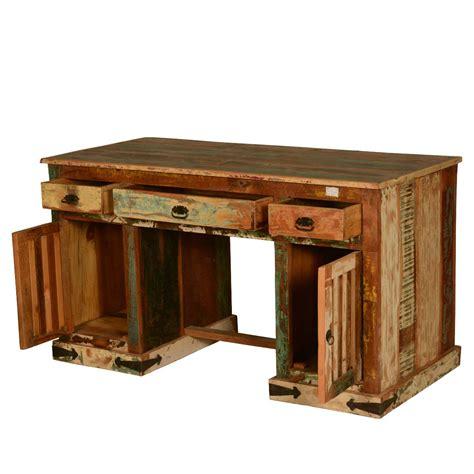 wood office desk rustic pedestal reclaimed wood office desk