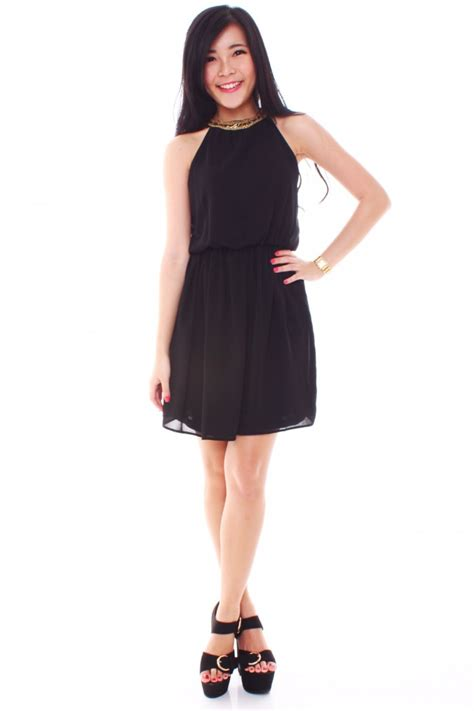 dress with beaded neckline zara inspired beaded neckline dress the label junkie