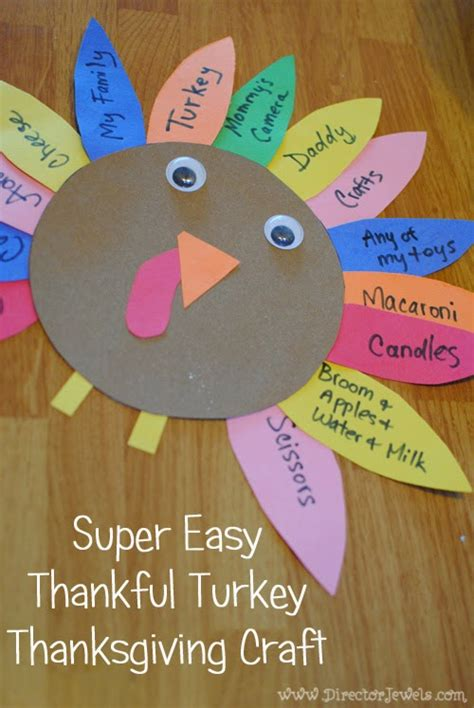 thankful crafts for director jewels easy thankful turkey thanksgiving