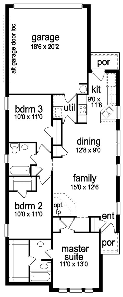 small house plans for narrow lots unique home plans for narrow lots 7 narrow lot house