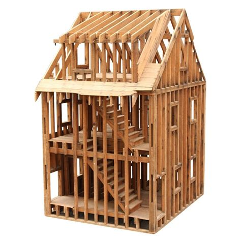 woodwork construction great balloon framing scale model of a home scale models
