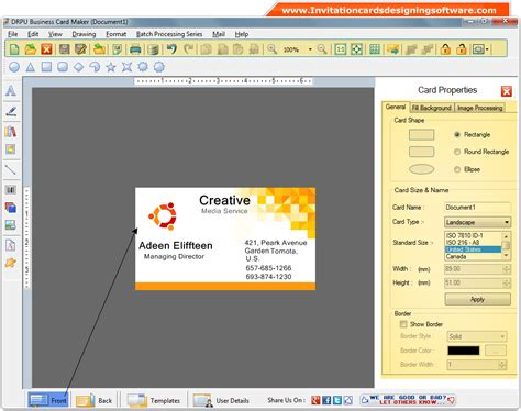 software for business cards business cards designing software make visiting corporate