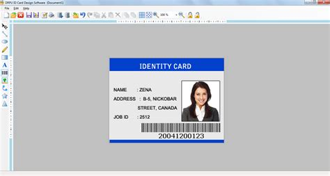 make identification card id card design software bulk personalized customized badge
