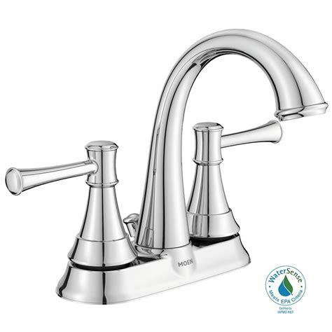 home depot kitchen sink faucet moen ashville 2 handle bathroom faucet chrome finish the home depot canada