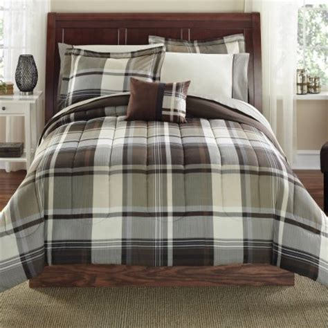 gray and brown comforter sets mainstays 8 bed in a bag bedding comforter set