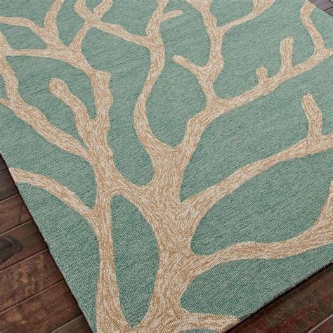 teal outdoor rug tree coral hooked outdoor rug teal blue or smoky brown
