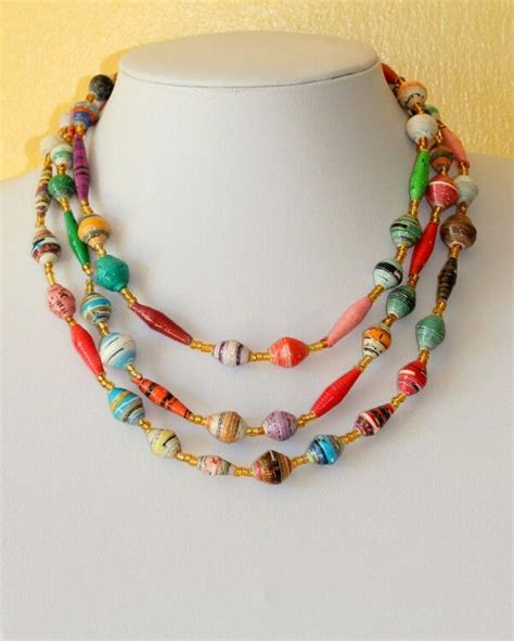 paper bead necklace paper bead jewelry baubles bangles