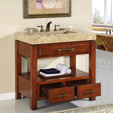 36 perfecta pa 5064 bathroom vanity single sink cabinet cherry finish bathroom