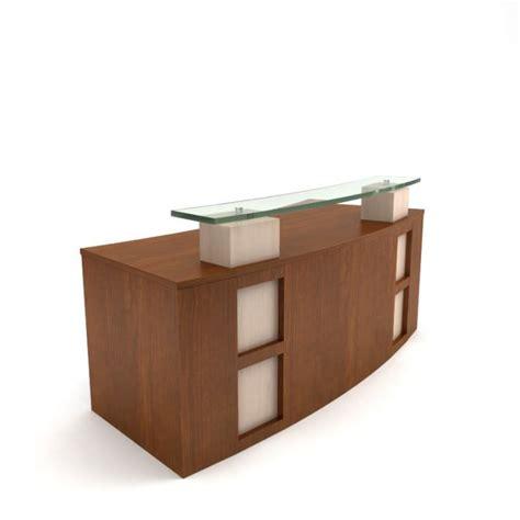 modern wooden desk modern wooden receptionist desk 3d model cgtrader