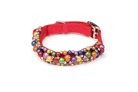 how to make a beaded leash fabuleash rainbow beaded collar petimpulse