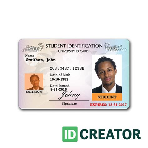 make a student id card professional student id card order in bulk from idcreator