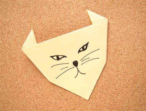 how to origami cat how to make an origami cat 4 steps with pictures