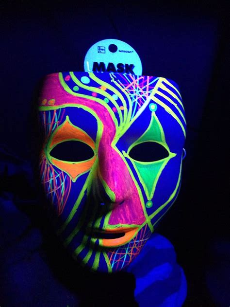 glow in the paint city black light ideas white mask city permanent neon