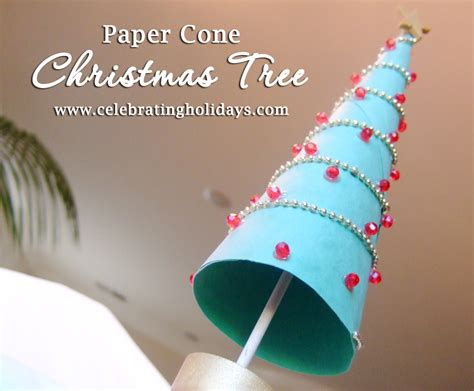 paper cone tree craft paper cone tree diy craft celebrating holidays