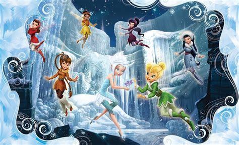 Disney Fairies Wall Mural tinker bell disney winter wallpaper murals