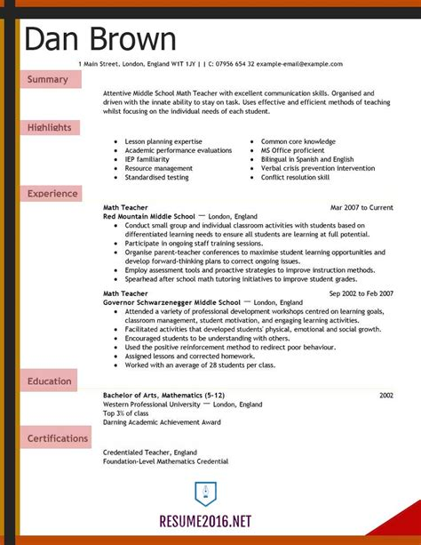 resume examples 2016 archives resume 2016