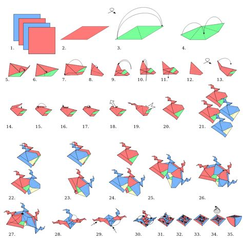 origami paper types origami types modular origami shell wikibooks open